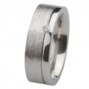 Ernstes Design Ring grob mattiert poliert Brillant R222.7