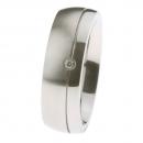 Ernstes Design Ring fein mattiert poliert Brillant R228.7