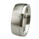 Ernstes Design Ring fein mattiert poliert Brillant R228.9