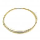 Halsreif Drahtseile 35 Fach DS35BI bicolor Gelbgold teilvergoldet