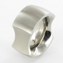 breiter Edelstahl Ring gewölbt R188 Ringgröße 56