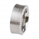 Ernstes Design Ring mit Zirkonia weiß R244WH Ringgröße 56