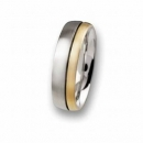 Edelstahlring 18 ct Gold R53