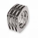 Edelstahlring Ernstes Design R120,7 Ringgröße 48
