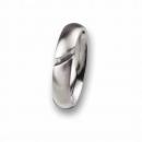 Edelstahl Ring mit Brillant R36.5