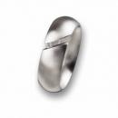Edelstahl Ring mit Brillant R36.7