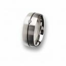 Edelstahl Ring mit Brillant R67.8