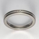 Titan Ring mit Feinsilber mit Brillant T12-0431.31