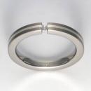 Titan Ring mit Feinsilber mit Brillant T12-0431.32