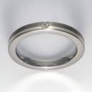 Titan Ring mit Feinsilber mit Brillant T12-0432.31