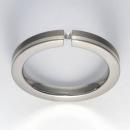 Titan Ring mit Feinsilber mit Brillant T12-0432.32