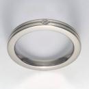Titan Ring mit Feinsilber mit Brillant T12-0433.31