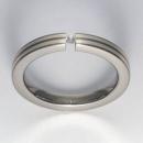 Titan Ring mit Feinsilber mit Brillant T12-0433.32