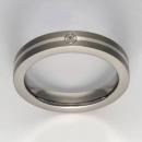 Titan Ring mit Feinsilber mit Brillant T12-0441.31