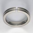 Titan Ring mit Feinsilber mit Brillant T12-0441.32