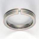 Titan Ring mit Feinsilber mit Brillant T12-0445.32