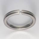 Titan Ringe mit Feinsilber mit Brillant T12-0531.32