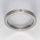 Titan Ringe mit Feinsilber mit Brillant T12-0533.31