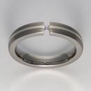 Titan Ringe mit Feinsilber mit Brillant T12-0541.32